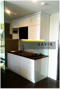 contoh kitchen set minimalis apartemen