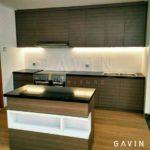 contoh kitchen set minimalis modern letter i