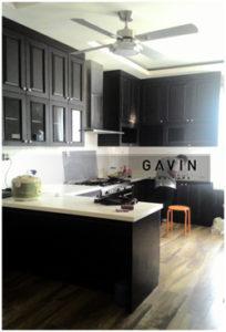 desain kitchen set klasik model letter u