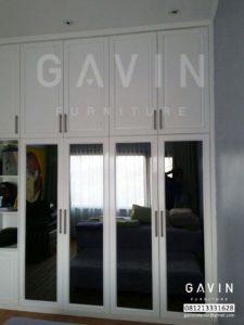 design lemari pakaian duco putih by gavin