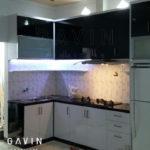 kitchen set minimalis dengan kaca rayban