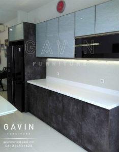 kitchen set minimalis modern hpl batu