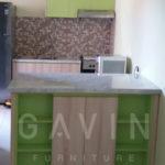 kitchen set minimalis mungil hijau