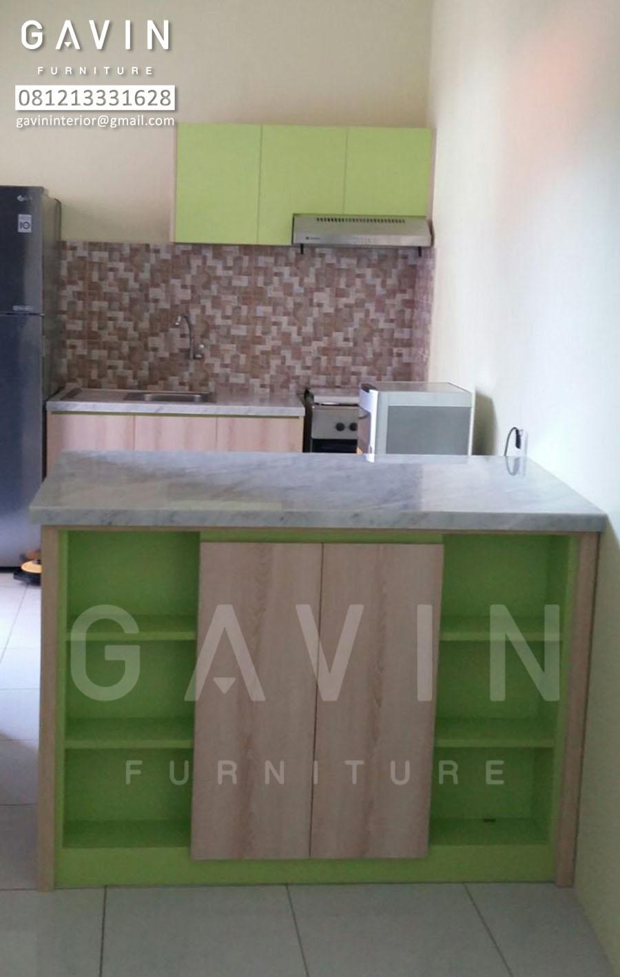 Kitchen set minimalis mungil hijau kitchen set minimalis for Kitchen set mungil