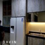 model kitchen set hpl kayu