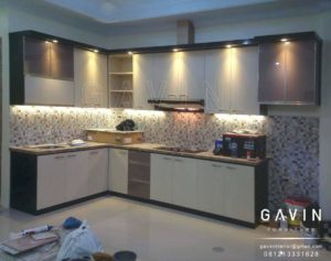 pembuatan kitchen set minimalis hpl by gavin