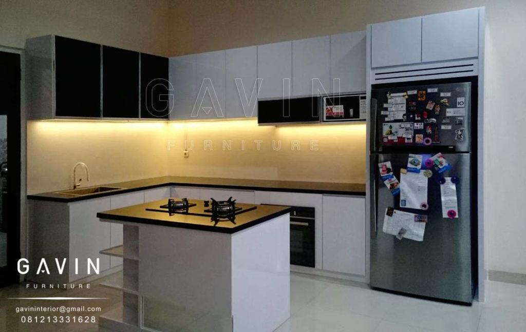 Q2175 pembuatan kitchen set dengan island model minimalis