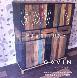 model lemari rustic by gavin furniture