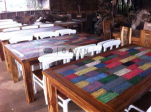 desain meja rustic untuk ruang tamu