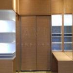 lemari sliding dengan meja rias custom