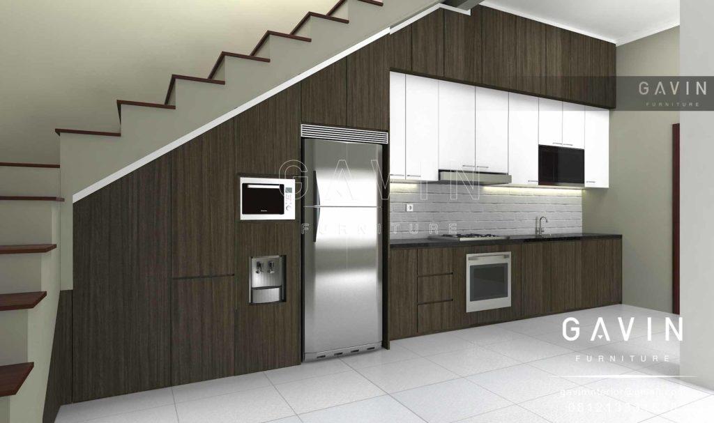 Harga jual kitchen set minimalis bawah tangga di pamulang for Rak kitchen set minimalis