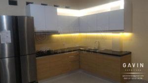 Q2482 contoh design kitchen set minimalis modern di ciputat