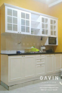 Q2503 kitchen set duco putih semi glossy by gavin