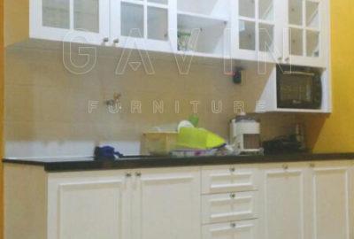 Q2503 kitchen set duco putih semi glossy by gavin