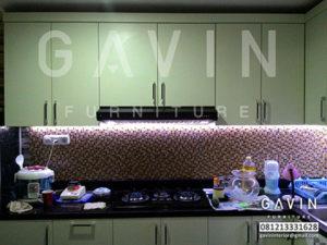 desain lemari dapur letter i