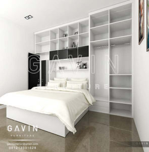Q2415 design bedroom set dengan lemari