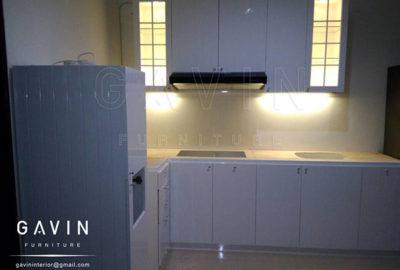 Q2560 spesifikasi kitchen set finishing duco semi klasik alur semi glossy