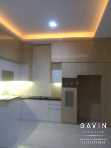 Q2582 kitchen set murah jakarta finishing HPL kombinasi