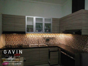 contoh desain kitchen set minimalis modern gavin furniture