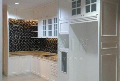 Q2535 kitchen klasik putih finishing semi klasik semi glossy