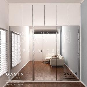 Q2584 design lemari sliding 3 pintu minimalis