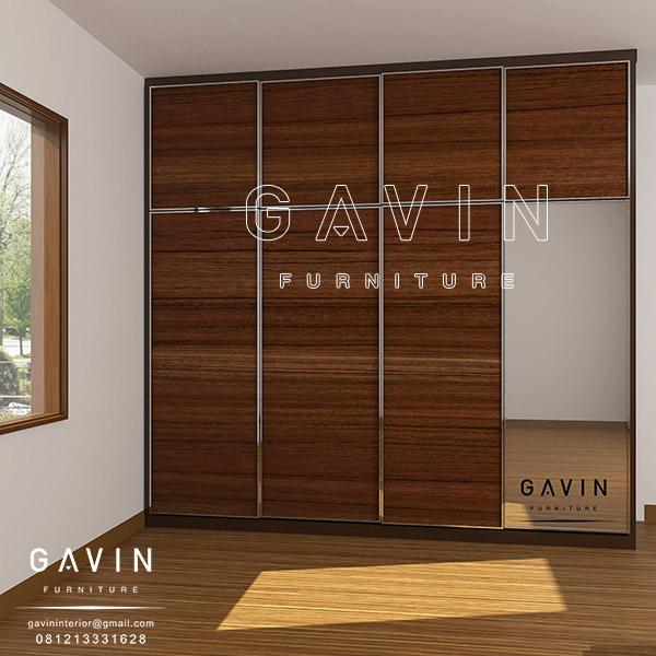 design lemari baju model minimalis 4 pintu Q2655