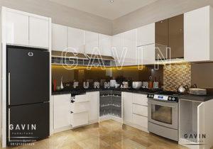 harga kitchen set minimalis modern design 3D Q2585