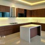 pembuatan kitchen set minimalis dengan minibar HpL Q2302