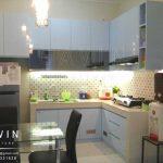 contoh kitchen set duco biru glossy di cipondoh Q2726