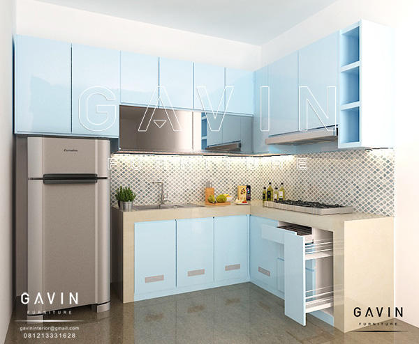 design contoh kitchen set duco biru by gavin Q2726