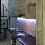 jual kitchen set serat kayu finishing HPL TH122FC kombinasi HPL supreme glossy Q2668