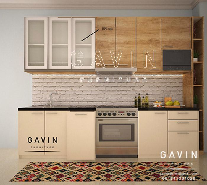 jual kitchen set serat kayu model letter i Q2668