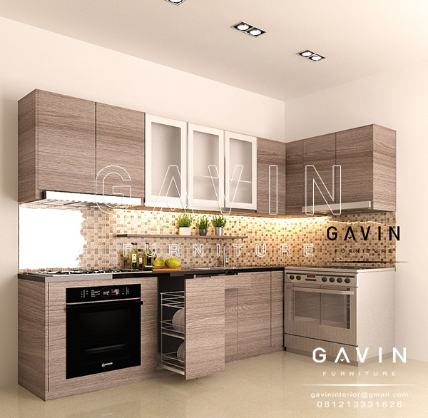 Contoh Design Kitchen Set Minimalis Modern Letter L Q2603 Kitchen