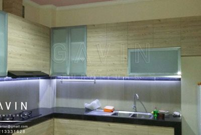 contoh kitchen minimalis HPL TH 1202 FC Aukland Oak Q2699