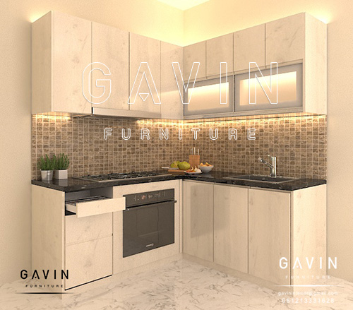 design kitchen set dapur minimalis modern Q2706