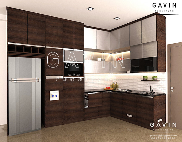 gambar design kitchen set minimalis modern project Bintaro Q2293
