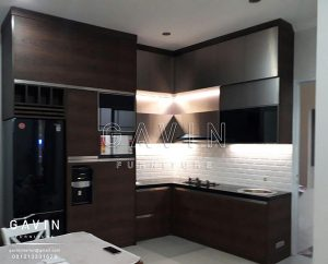 gambar kitchen set minimalis modern terbaru gavin furniture Q2293
