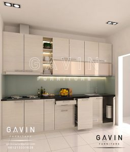 pembuatan design kitchen set minimalis modern Q2711