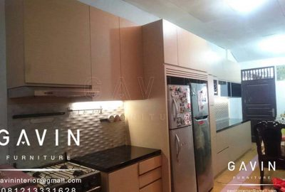 Jasa Pembuatan Kitchen Set Minimalis Finishing HPL Q2793