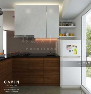 buat kitchen set minimalis custom project pulo gadung Q2468