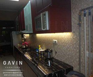 Contoh Kitchen Set Warna Merah Kecoklatan Kitchen Set Minimalis