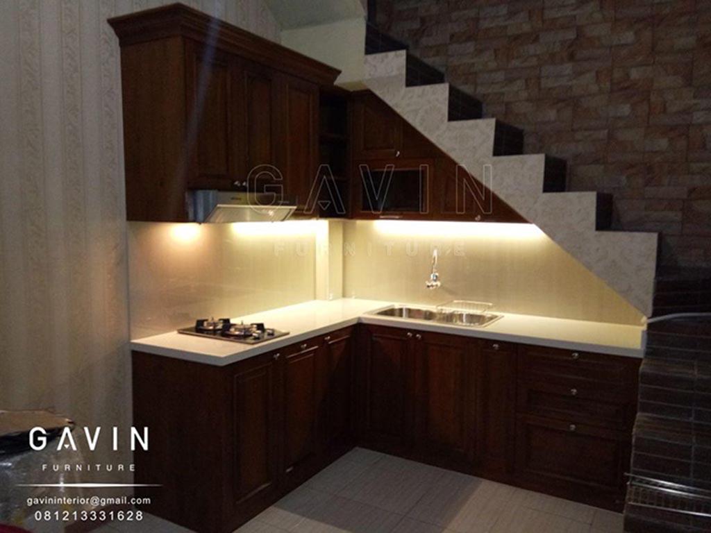 Furniture kayu solid kitchen set minimalis lemari for Wastafel kitchen set