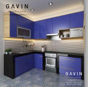 Inspirasi Gambar Kitchen Set Minimalis Warna Biru Di Kreo Tangerang