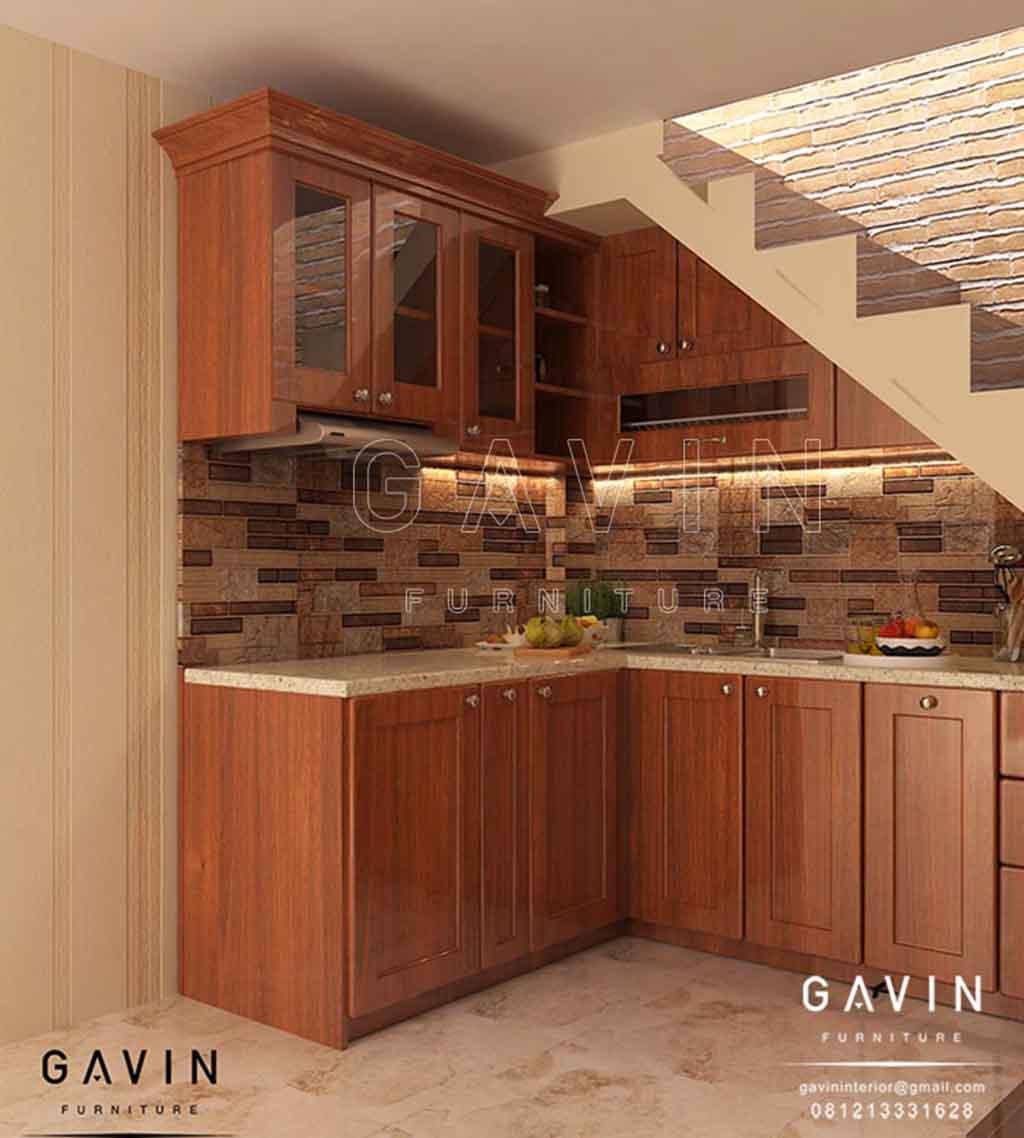 pembuatan furniture kayu solid desain custom di Pulo Gebang Q2748