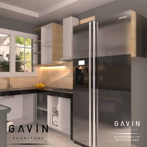 bikin kitchen set design minimalis modern project di Perjompongan Q2906