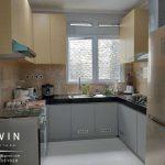 bikin kitchen set minimalis letter u finishing hpl project pejompongan Q2906