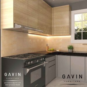 bikin kitchen set minimalis modern dengan finishing hpl Q2906
