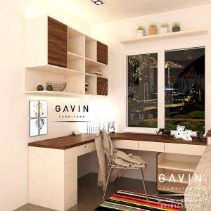 desain interior ruang kerja home office minimalis Q2650
