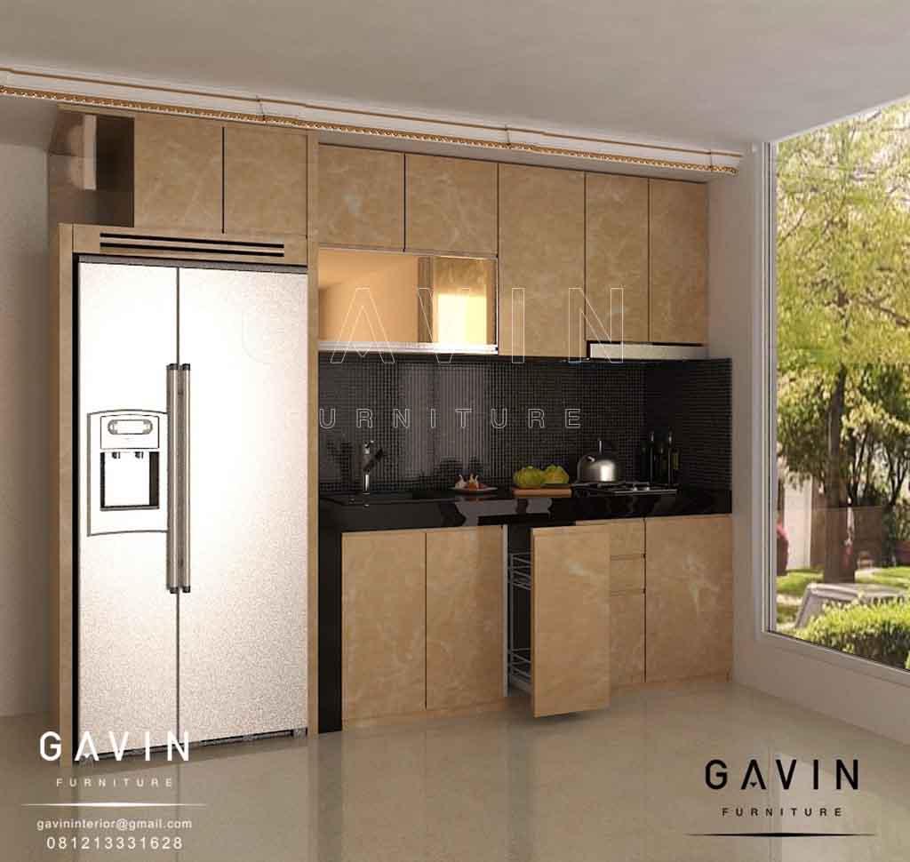 design 3D lemari dapur minimalis modern 2020 by gavin