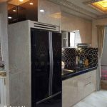 design lemari dapur minimalis modern finishing HPL project di ancol Q2676